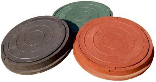 Купить Люк полимерно композитный 470 мм х 470 мм х 55 мм (черный   квадратный) в Краснодаре по низким ценам в интернет-магазине ВОДОТОК