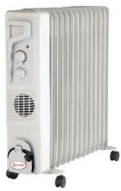 Купить Масляный радиатор «Умница» ОМВ 15с. 3 |4кВт | 15 секций с вентилятором | черно серебристый цвет | с увлажнителем в Краснодаре по низким ценам в интернет-магазине ВОДОТОК