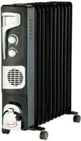 Купить Масляный радиатор «Умница» ОМВ 11с. 2 |9кВт | 11 секций с вентилятором | черно  бордовый цвет в Краснодаре по низким ценам в интернет-магазине ВОДОТОК
