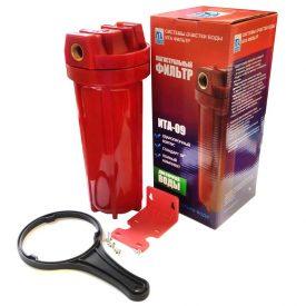 Купить Фильтрация: Колба «ITA» Slim 09 3/4″ (для горячей воды   непрозрачная   красная) в Краснодаре по низким ценам в интернет-магазине ВОДОТОК